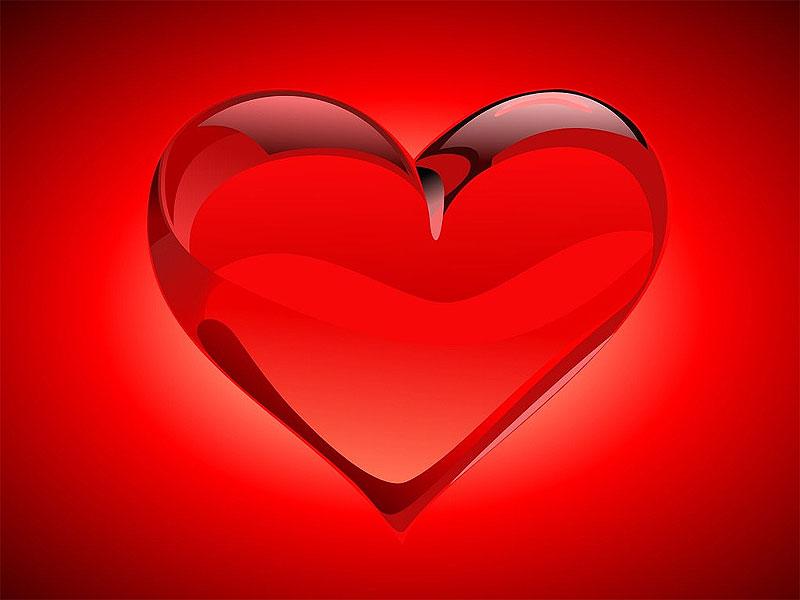 wallpaper de corazones. Corazones de cristal